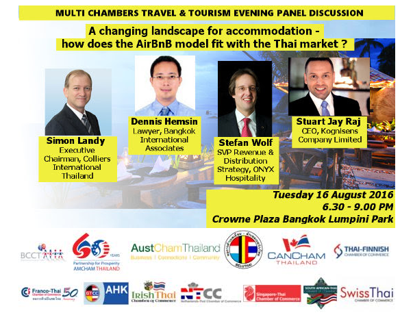 Multi chambers travel and tourism evening panel discussion
